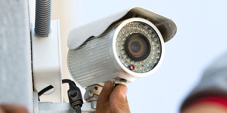 Установка уличного видеонаблюдения